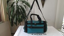 NWT Coach Duffle Gym Perforated Mixed Materials Travel Bag F56875 Seagreen/Black