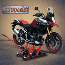 Motorcycle ATV Jack 1500 lb Lift Hoist Quad Dirt Street Bike Stand Auto Shop