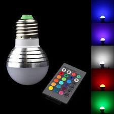 E27 3W 16 Color RGB LED Light Ball Bulb Remote Control 110V 220V 85-265V Lamp