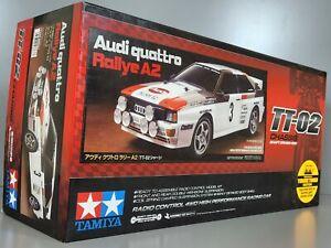 Tamiya # 58667 1/10 R/C Car TT02 Chassis Audi Quattro 4WD Rallye A2 Kit w/ESC