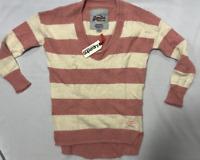 Superdry Womens Edie Crew Pink Stripe Jumper Sweater Top Size S *NCN