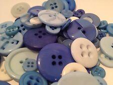 50g Surtidos China Blue A Granel botón Mix Para Manualidades, álbumes de recortes, Coser Y Tarjetas