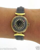 Ernest Borel Watch Kaleidoscope Vintage Ladies Cocktail Skeleton 14k Gold Plated