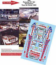 Decals 1/43 réf 555 Porsche 911 SC Vincent / Huret Tour de Corse 1981