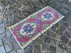 Vintage doormats, Turkish small rug, Hand-knotted wool rug,Carpet | 1,5 x 3,1 ft