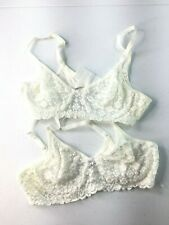 7a81dbfea Olga Bra Lot of 2 sz 34 A lace NWOT white underwire adjustable strap style  33032