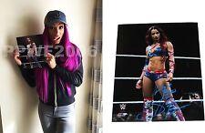 WWE SASHA BANKS HAND SIGNED AUTOGRAPHED 8X10 PHOTO WITH EXACT PIC PROOF & COA 50