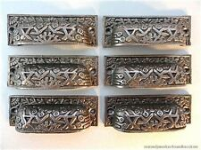 SET OF 6 INCA DESIGN VICTORIAN STYLE CAST IRON CUP HANDLE DRAWER PULL HANDLE IS1