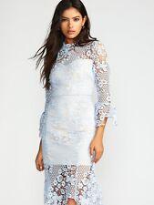Free People La Spezia Dress In Blue Dress Size S MRSP 365.00