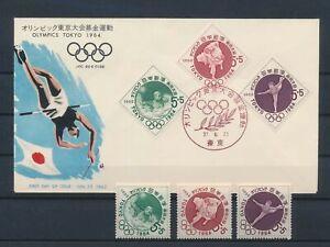 LM81901 Japan 1964 Tokyo olympics basketball FDC used
