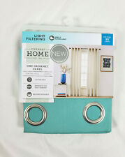 "JCP Home Canton Green Verona Twill Solid Grommet Curtain Panel, 50""x95"""