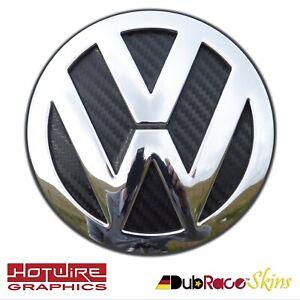 VW GOLF MK7 Black Carbon Fibre - REAR Badge Inserts. GTI, R32, TDI