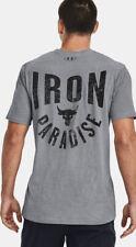 Under Armour Men's Project Rock Iron Paradise Short Sleeve  Size Large