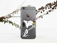 Lovely Snoopy iPhone XS Max Case Peanuts Cartoon iPhone 6s 7 8 Plus Gel Cover