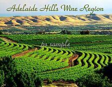 Australia - Adelaide Hills WINE REGION - Travel Souvenir FLEXIBLE Fridge MAGNET