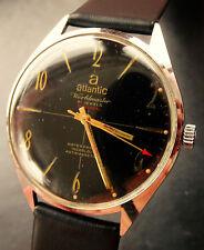 Atlantic Worldmaster UNITAS 6300N Black Vintage Elegant Men's Watch 38 mm 1960