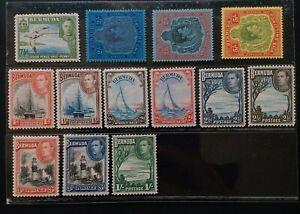 BERMUDA 1938 KG VI 1d to 5s SG 110 -  118e Sc 109 118 - 125 pictorial MNH