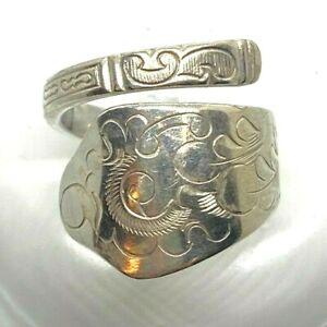 Antiker Ring Herstellungsjahr 1925 mit hübschen Verzierungen 830er Silber Gr. 59
