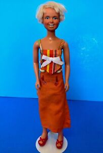Vintage 1974 DUSTY Doll Kenner Dress w Red Platform Sandals