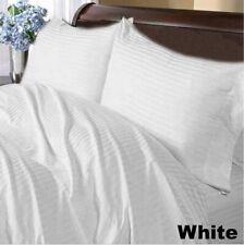 Bedding Collection 1000 TC Egyptian Cotton US Sizes White Striped Select Item