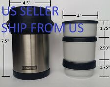 30 Oz 0.9 Liter Food Jar Double Wall Stainless Steel Vacuum Flask Wide-Mouth Mug