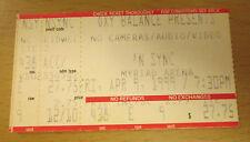 1999 Nsync Oklahoma City Concert Ticket Stub Justin Timberlake Ain'T No Stoppin'