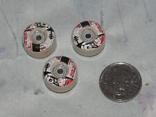 """3 Wheels for Tech Deck Handboard Mini Skateboard 10"""" Alien Workshop jason Dill"""