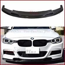 Carbon Fiber VR Look Front Bumper Spoiler Lip BMW 12-15 F30 3-Series M-Sport 4D