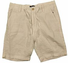 Nautica Linen Drawstring Bright White Shorts in Size 34W
