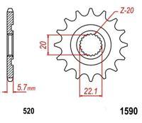 KR Ritzel 13Z Teilung 520 YAMAHA YZ 250 F 4T 01-12 New... front sprocket