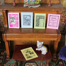 Vintage Dollhouse SHEET MUSIC LOT READABLE Miniature Printed Pages Antique Style