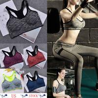 Women Sport  Gym Yoga Padded Bra Fitness Tank Stretch Workout Seamless Underwear