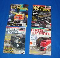 Classic Toy Trains Magazine Lot of (4) All from the Year 2001-2002