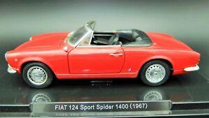 Miniature voiture Fiat 124 Spider Cabriolet auto 1:24 diecast