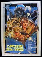 Manifesto L'Avventura Der Ewoks Star Wars George Lucas Walker Tausend M312