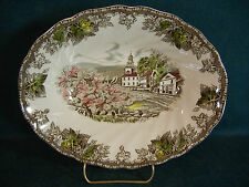 """Johnson Brothers The Friendly Village 9"""" Serving Bowl - Village Green - England"""