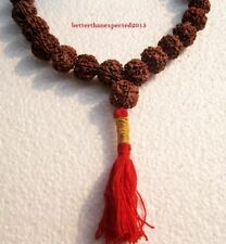 16 MM 5 MUKHI RUDRAKSHA FACE RUDRAKSH MALA NEPAL 109 BEADS PRAYER YOGA-ENERGIZED