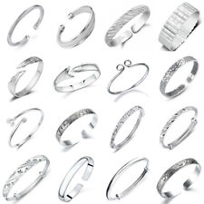 925 Sterling Silver Bangle Cuff Bracelet Wristband Fashion Women Jewelry Gifts
