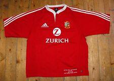 RARE British Lions 2005 Tour Rugby Union Match Détail Broderie Shirt jersey L
