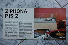 Sammlungsauflösung altes Prospekt RFT radio phono television Ziphona P15 - Z !!!