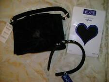 Nwt Holiday 3 pcs lot black velvet purse tights rhinestone hair holder 4 6 5