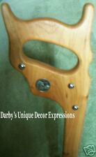 CHERRY HANDSAW HANDLE WALKING CANE,W/KY STATE QUARTERS!