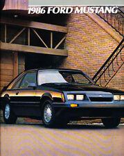 1986 Ford Mustang Original Sales Brochure GT SVO