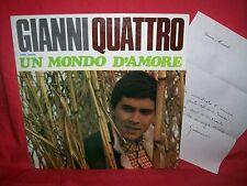 GIANNI MORANDI Gianni 4 Un mondo d'amore LP 1967 Completo & Perfetto MORRICONE