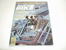Custom Bike, June 1981 Issue.  Easyriders Ironhorse Choppers Harley Davidson
