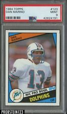 1984 Topps #123 Dan Marino Miami Dolphins RC Rookie HOF PSA 9 MINT