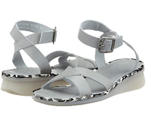 FLY LONDON CENI570FLY GREY CLOUD LEATHER SANDALS UK 7 EUR 40 USA 9 BNIB RRP £99