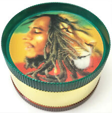 Eclipse Novelty Durable 3-Part Holo Jamaican Rasta Faces Tobacco Herb Grinder