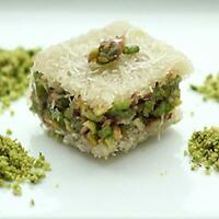 Pistachio Balourieh Baklava Pastry  White| 80 Pieces (35 Oz) in a Nice Gift Box.
