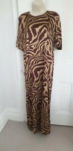 Ganni Silk TIger Print Long Dress. 44. UK 16